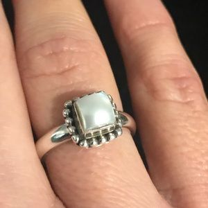 Silpada Sterling Silver Fresh Water Pearl Ring